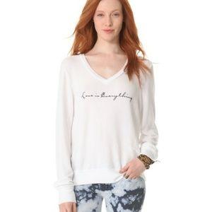 WILDFOX love is everything baggy jumper sweatshirt